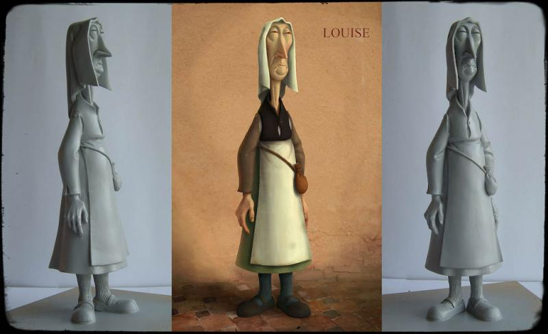 Sculpt by Evgeni Tomov based on a drawing by Silvain Chomet. © Universal Pictures