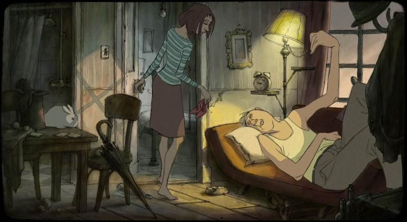 Character design by Sylvain Chomet. © Pathé.