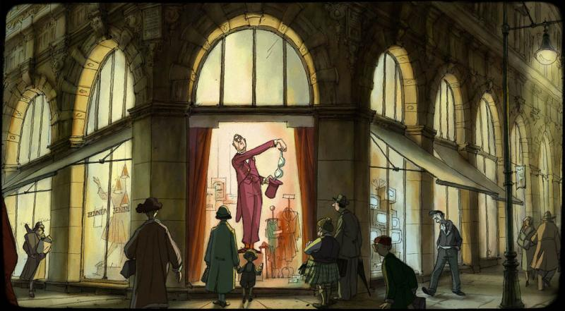 Character design by Sylvain Chomet and Laurent Kircher. © Pathé.